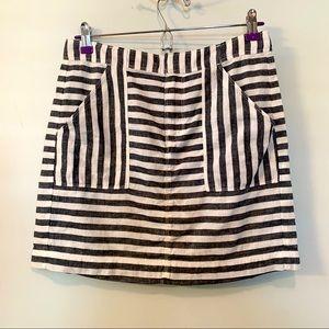 Madewell Broadway & Broome striped mini skirt sz 4